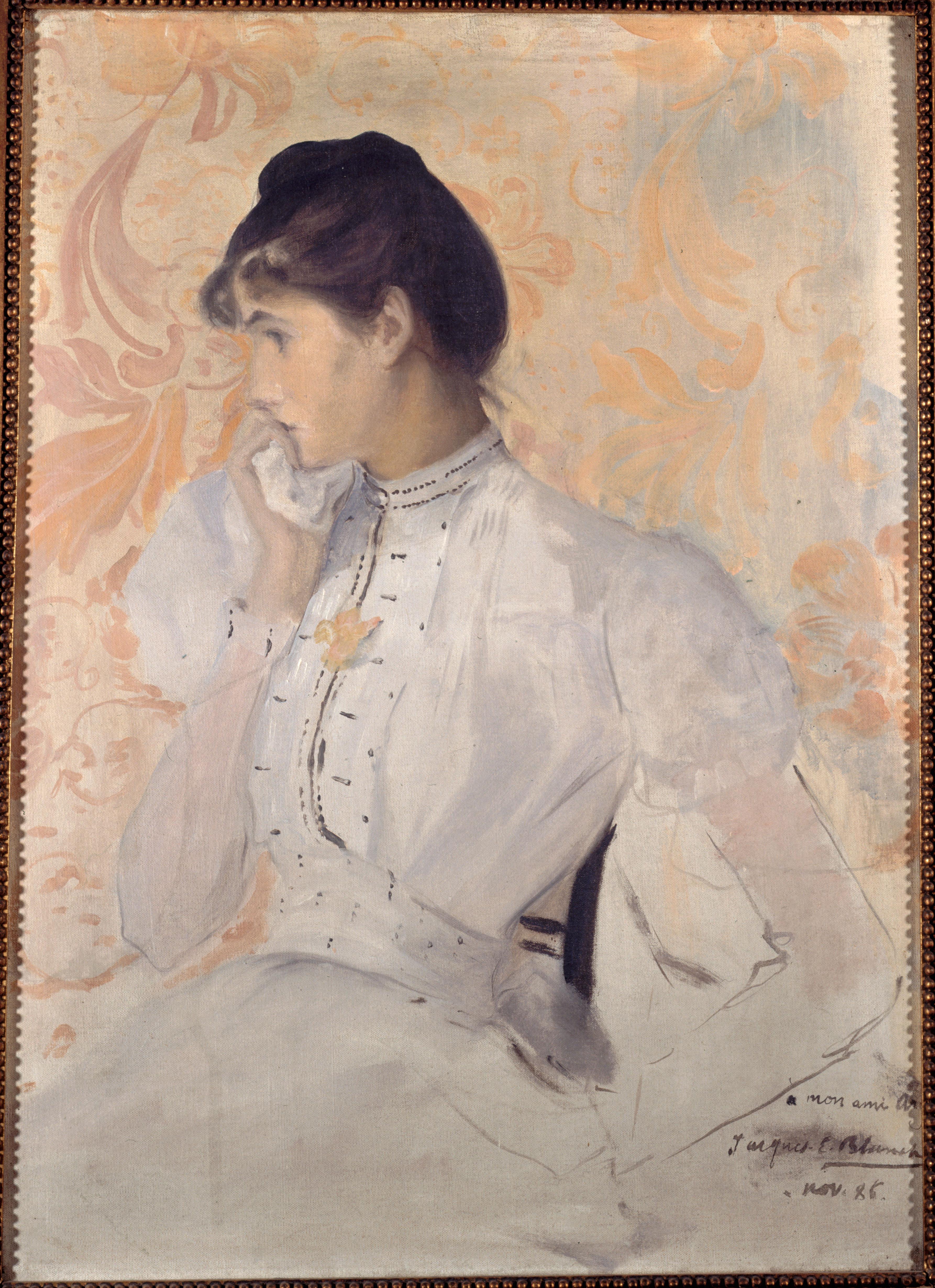 Jacques-Emile Blanche, Portrait d'Henriette Chabot (Femme en blanc), 1886