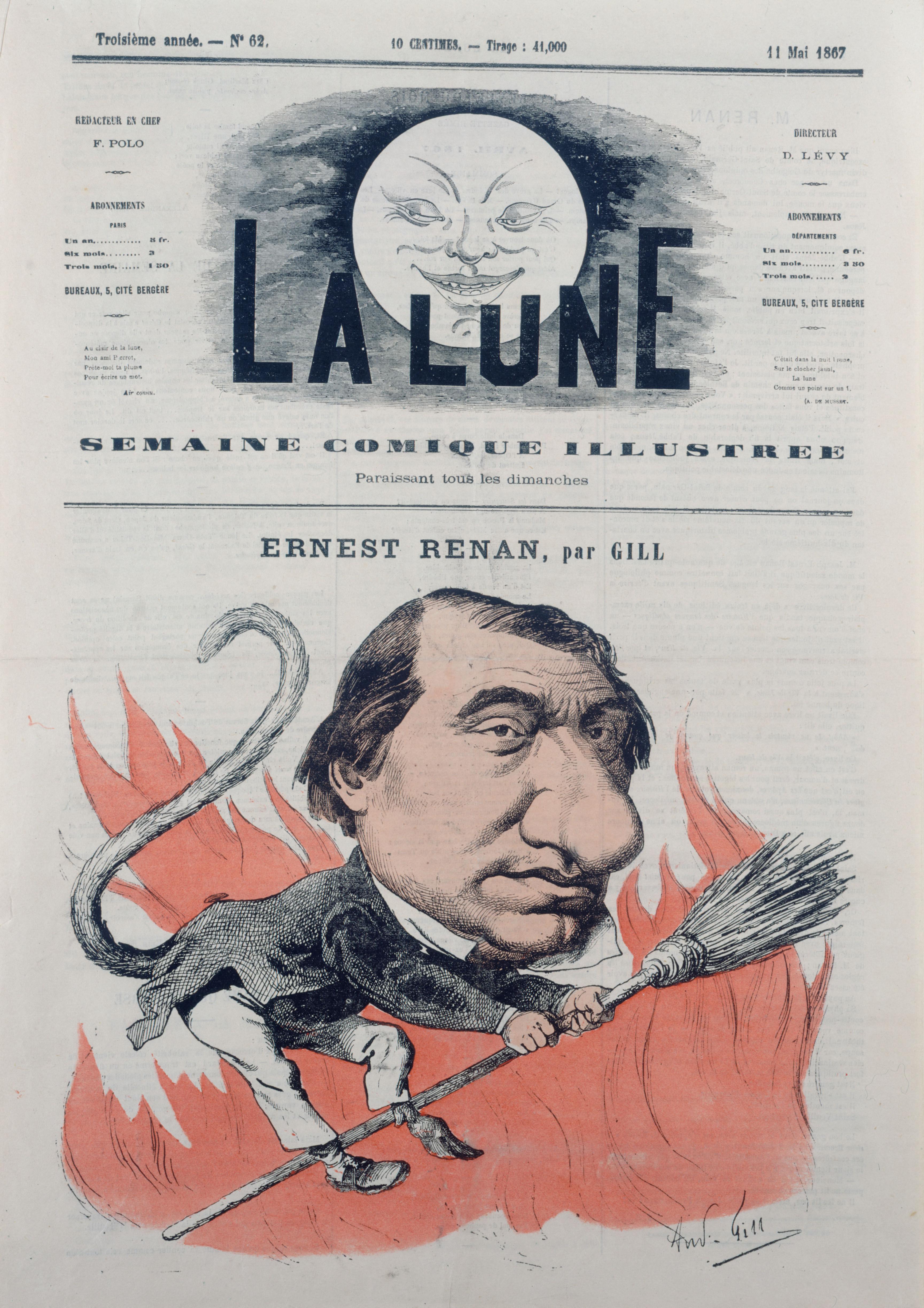 Ernest Renan par Gill