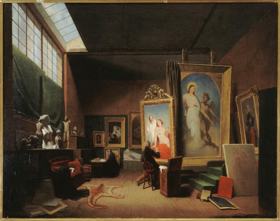 LAMME Arie Johannes (1812-1900), L'atelier d'Ary Scheffer rue Chaptal, 1851© Musée de la Vie Romantique Roger-Viollet