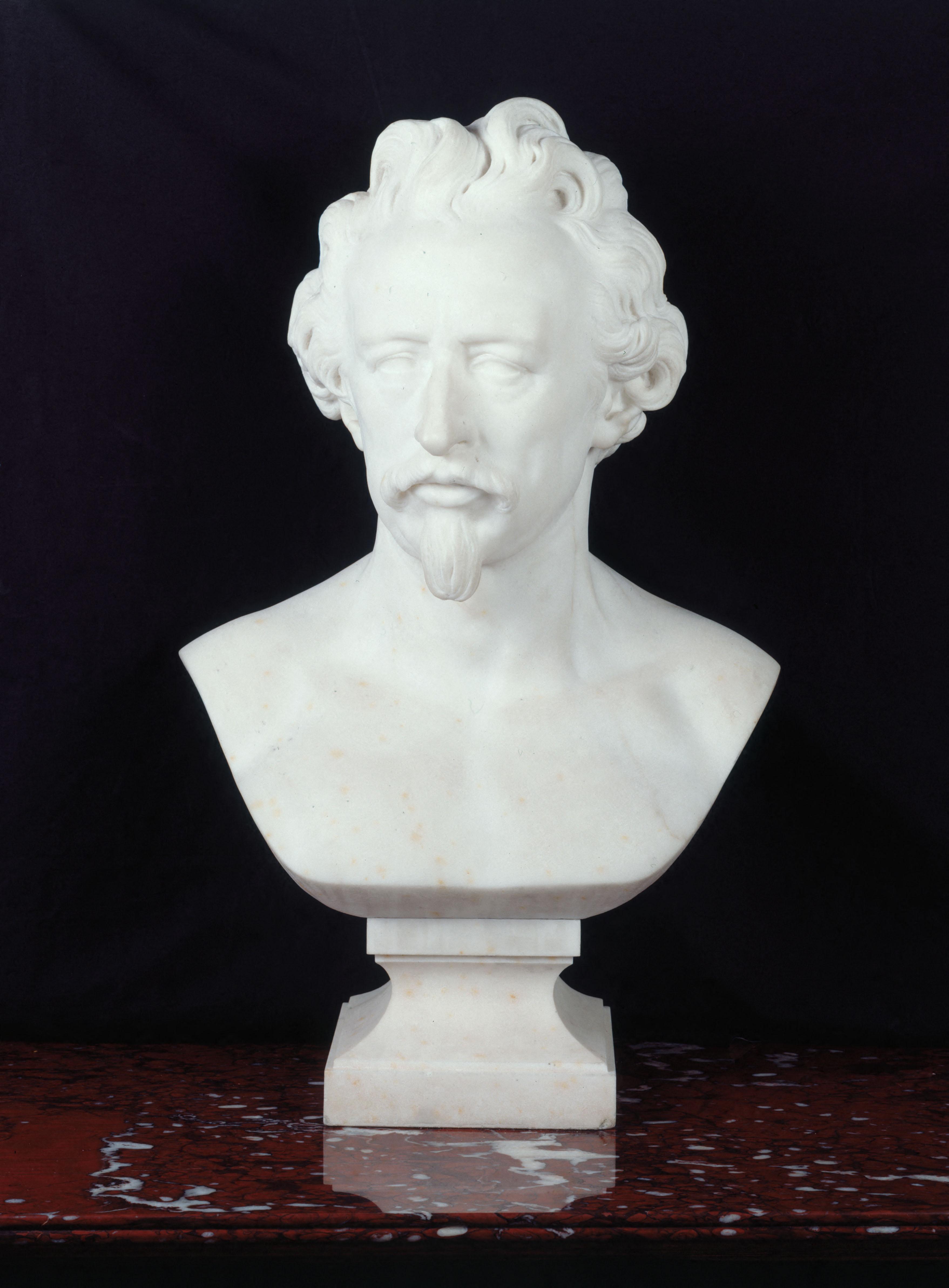 Buste d'Ary Scheffer, Pierre-Jules Cavelier