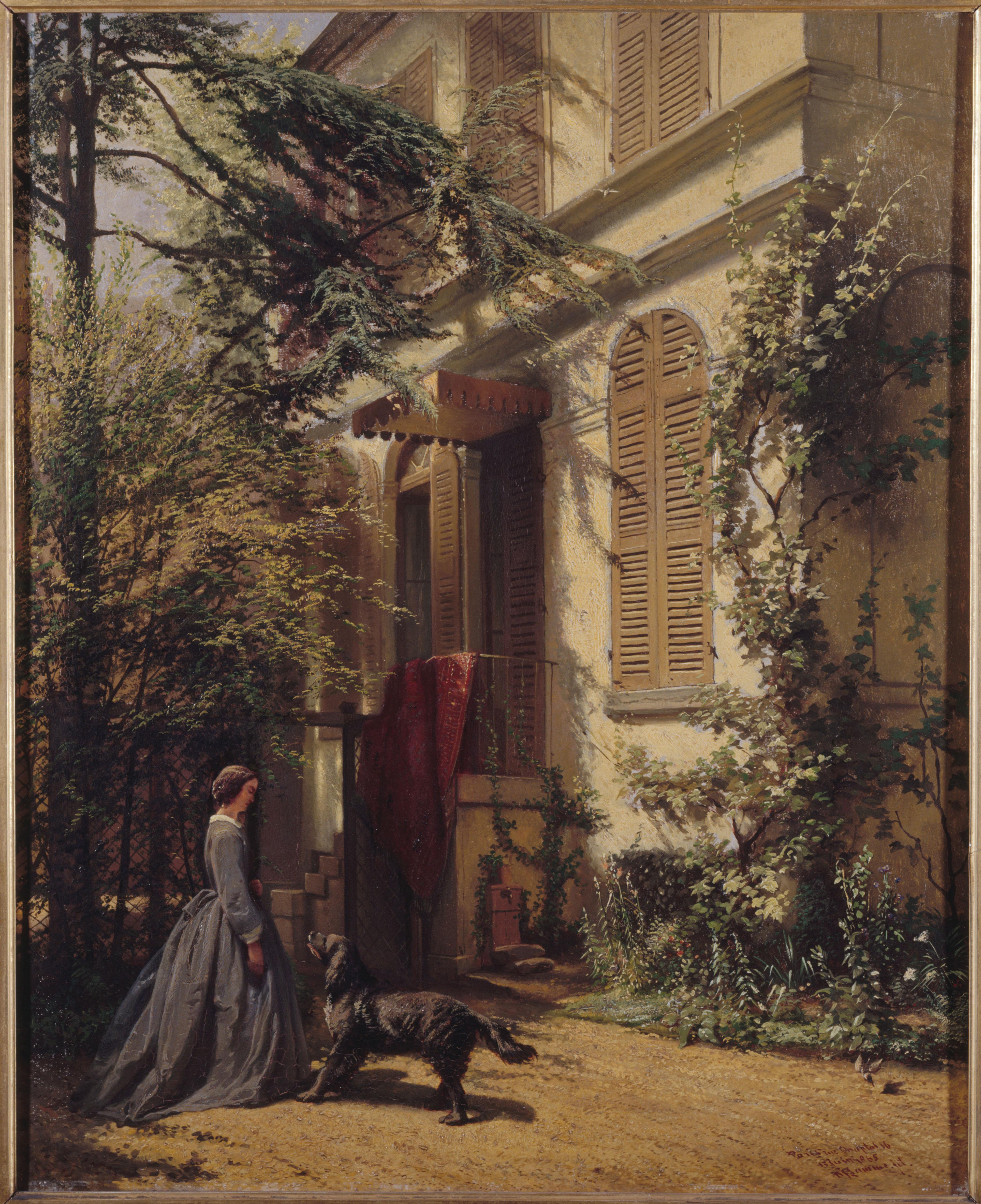 LAMME Arie Johannes (1812-1900). Le jardin de la rue Chaptal. © Musée de la Vie Romantique Roger-Viollet