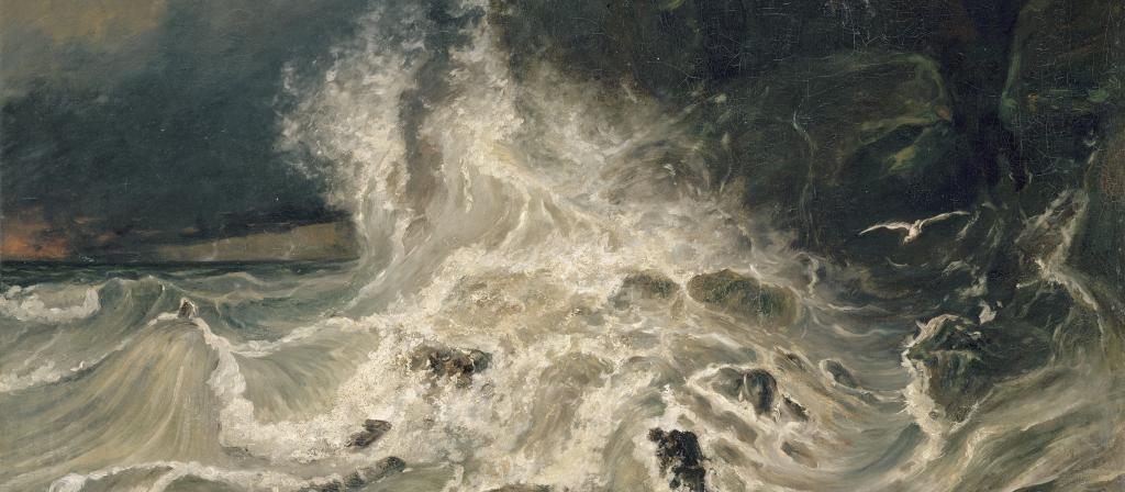 Paul Huet (1803-1869). Brisants à la pointe de Granville (Manche), vers 1852. Musée du Louvre, département des peintures, Paris, France.